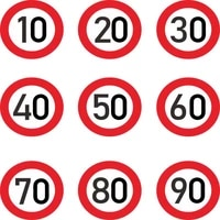 high quality fashion car sticke decalrspeed limit 10 20 30 40 50 60 70 80 90 kmh for various decoration 15cm