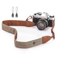 Foleto-correa ajustable Universal para cámara, correa de algodón y cuero para cámaras Nikon, Canon, DSLR, accesorios