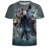 in the summer of 2021 men and women 3d printed cool game character t shirts and comfortable wild short sleeved t shirts