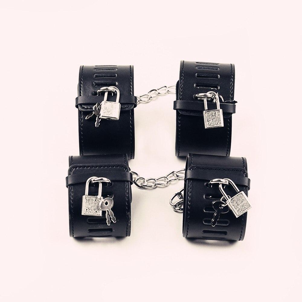Esposas sexuales para adultos con cerraduras restricciones fetiche juego de rol esclavo tobillo puños grilletes de juguete Bring Locks BDSM Bondage para parejas