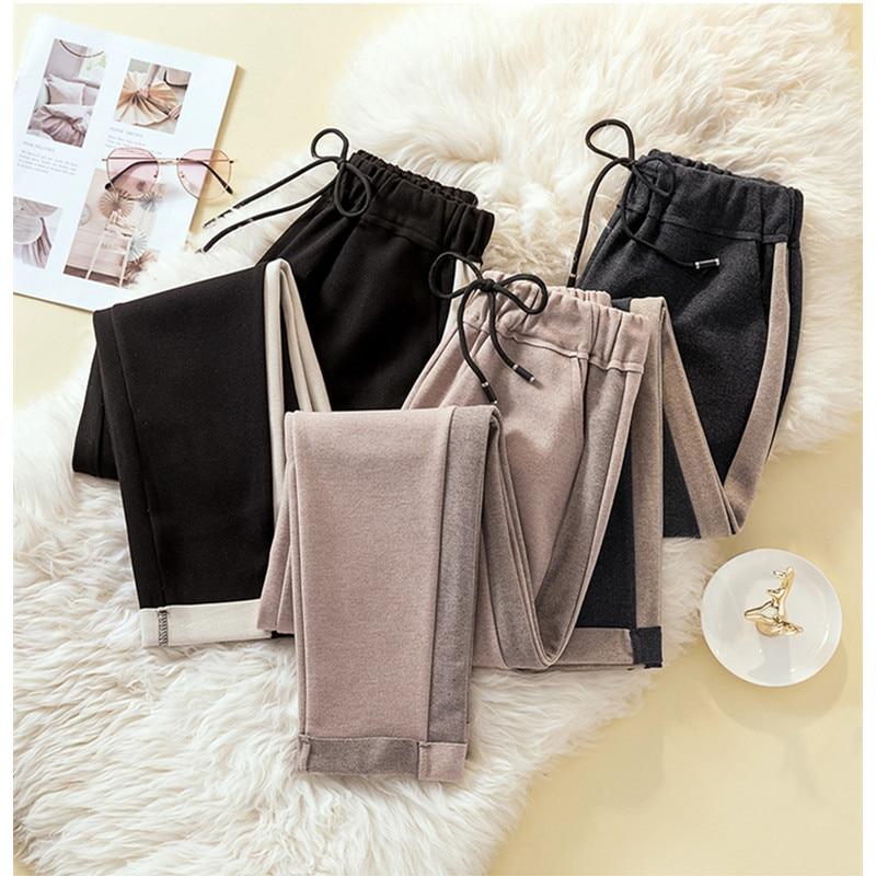 JUJULAND New Winter Autumn Pants High Waist Women's Pants Casual Harem Pants Female Warm Female Long Trousers Hot Sale 2056