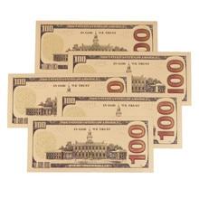 5pcs/lot USD 100 dollar 24k Gold Foil Golden USD Paper Money Banknotes DIY Crafts
