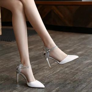 35-40 size Summer women shoes 7-8cm high heel pointed Toe women sandals fashion thin heel sandals party ladies shoes