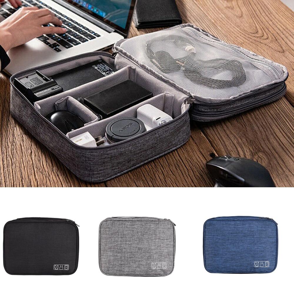 De Viaje impermeable bolsa de almacenamiento Digital electrónica organizador bolsa auricular de...