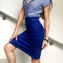 Women Skirts Pencil Skirt Female High Waist Vintage Suede Split Skirts Jupe Femme Faldas Mujer Plus Size Skirt