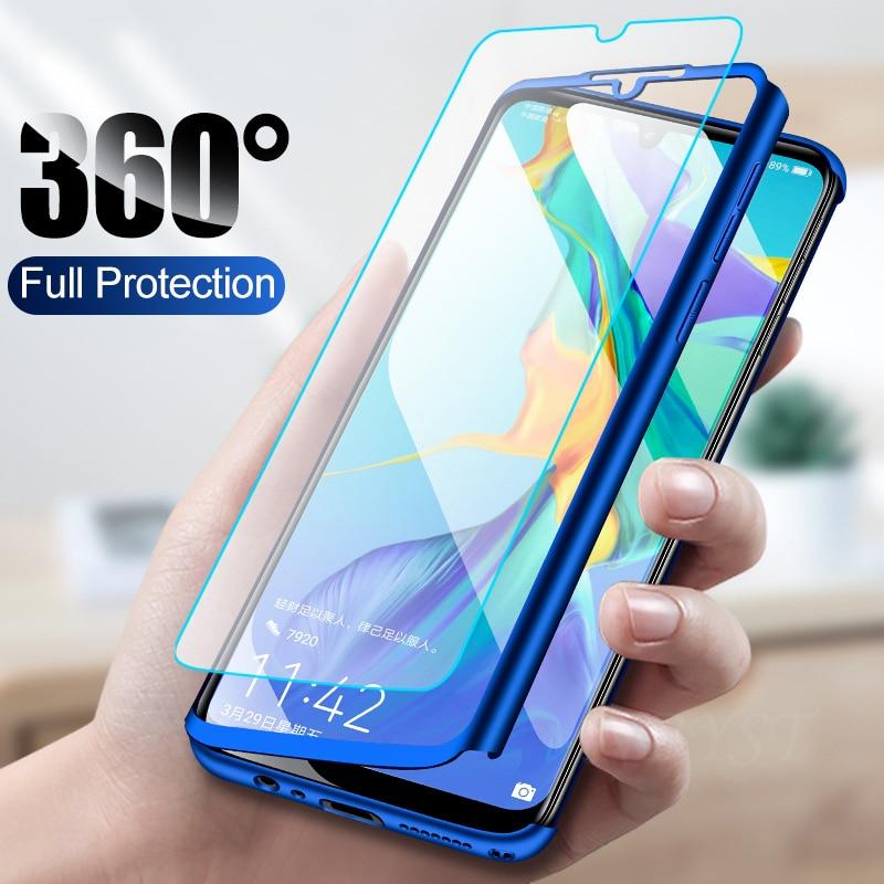 Funda de teléfono de moda púrpura 360, funda completa para iPhone 6 6X8 s 7 Plus 5 5s SE, funda protectora para iPhone XS MAX XR con cristal