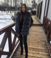 Ethel Anderson classique réel gilet en fourrure de renard/gilet/sans manches luxe veste en fourrure naturelle/adapté pour lautomne/hiver