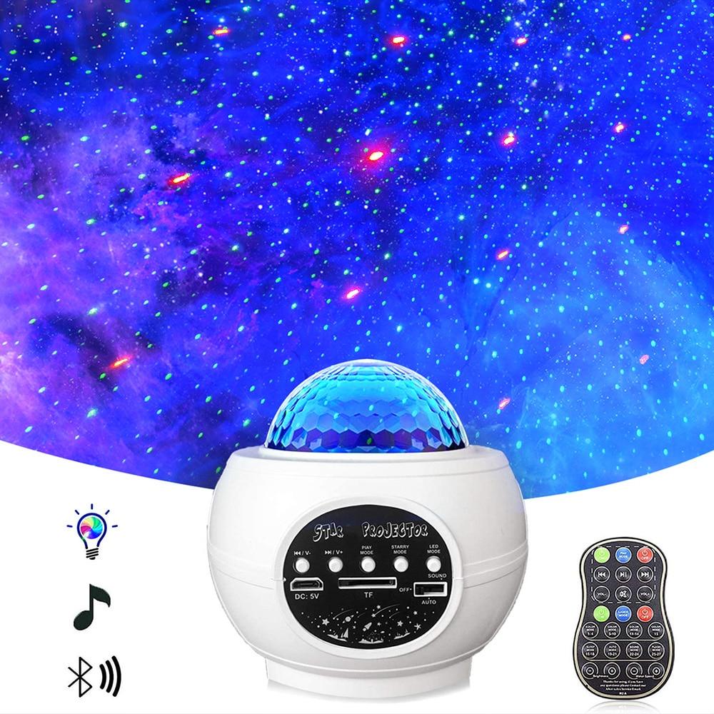 Yufan-مصباح Led أبيض 8 وات مع إدراج بطاقة SD ، تشغيل الموسيقى ، الهاتف الذكي ، ضوء الليل
