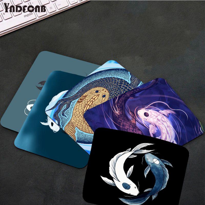 Игровые коврики YNDFCNB Tui и La Yin Yang Koi fish, коврик для мыши для CS GO/LOL, гладкий коврик для письма, настольные компьютеры, коврик для игровой мыши, ков...