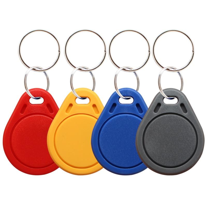 Брелоки RFID Mifare 13,56 МГц 14443A M1 S50 10 шт., маленькие смарт-бирка кольца для ключей IC брелоки, жетон, Nfc брелоки для контроля доступа