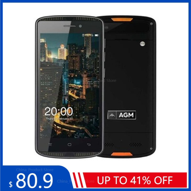 AGM X1 Mini 4G LTE Smartphone 4000mAh IP68 Waterproof Shockproof Android 6.0 5.0
