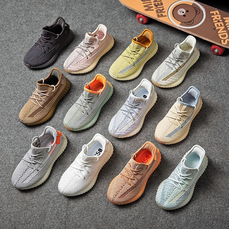 2021 Spring Summer New Children's Shoes 350v2 Casual Shoes Light Breathable Mesh Shoes Kids Sneakers