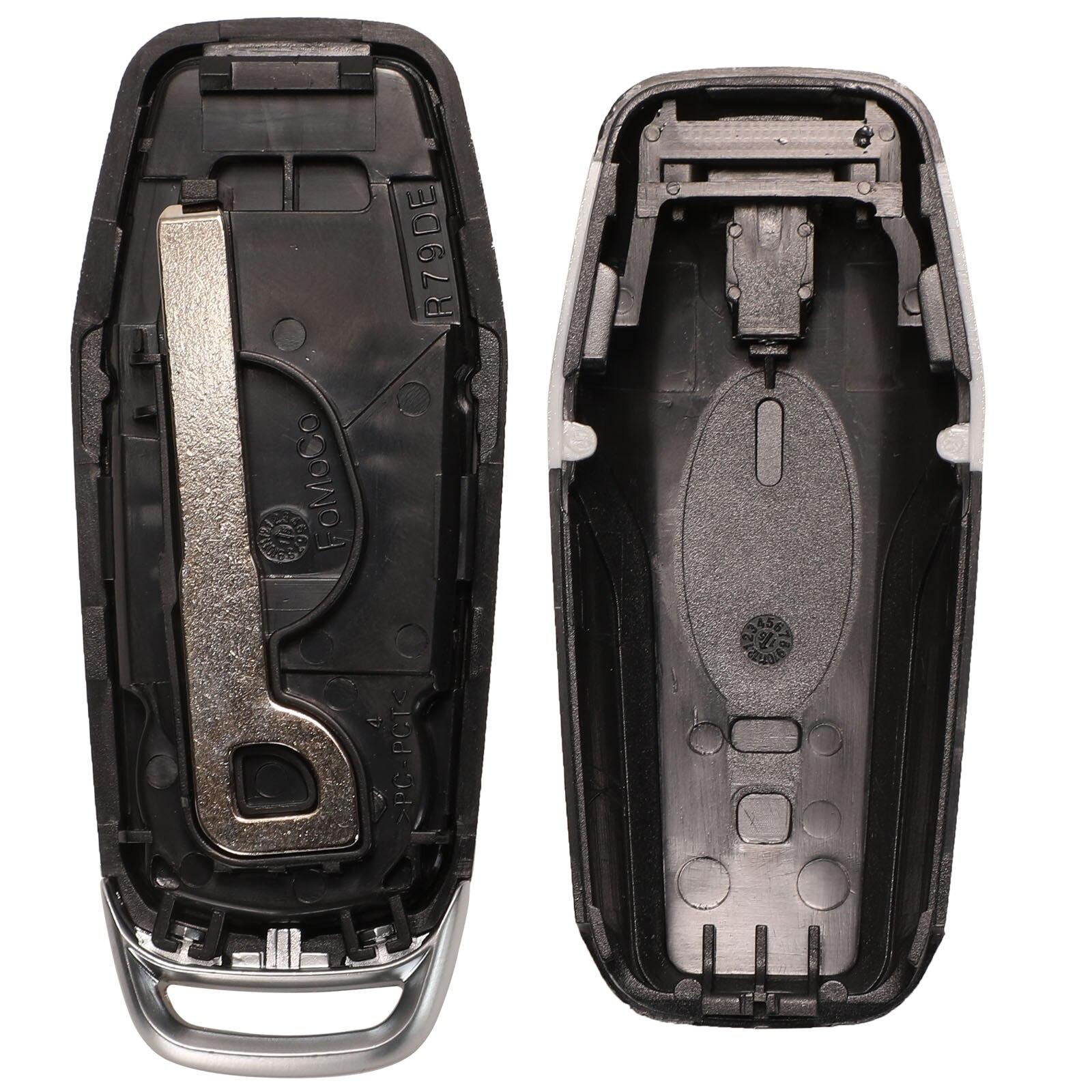 jingyuqin 3/4/5 Buttons Remote Car Key Shell For Ford Edge Explorer Fusion 2015 2016 2017 M3N-A2C31243300 Smart Key Fob