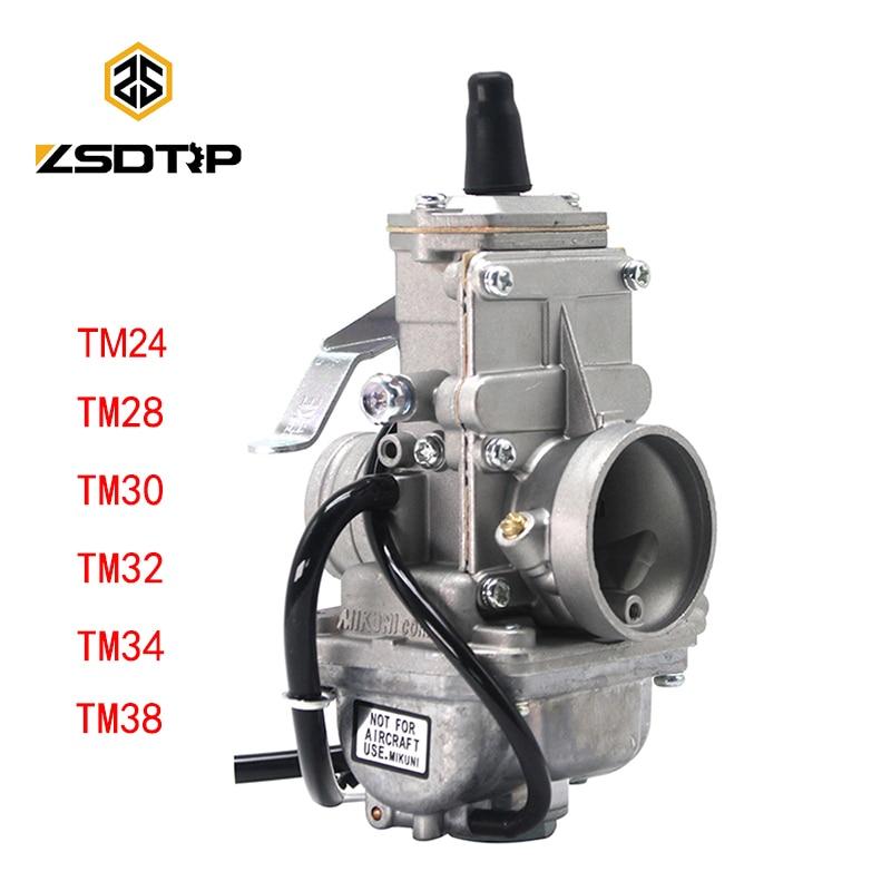 ZSDTRP ل Mikuni المكربن Vergaser Carb TM24 TM28 TM30 TM34 TM32 TM38 شقة الشريحة المكربن حنفية TM34-2 42-6100