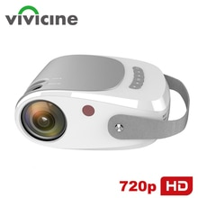 Vivicine 2021 Portable 720p Home Theater Video Projector,Handheld HD USB PC Game Proyector Beamer Su