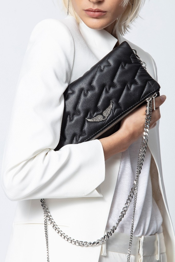 حقائب نسائية جلدية سوداء 2021 أجنحة جديدة الديكور رائعة حقائب اليد الرجعية حقيبة تسوق الكتف