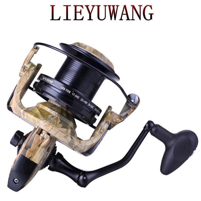 Venta al por mayor de fabricantes de equipos de pesca Kingfish con ruedas giratorias de metal, carrete de pesca fanchor, carrete de pesca de fundición larga