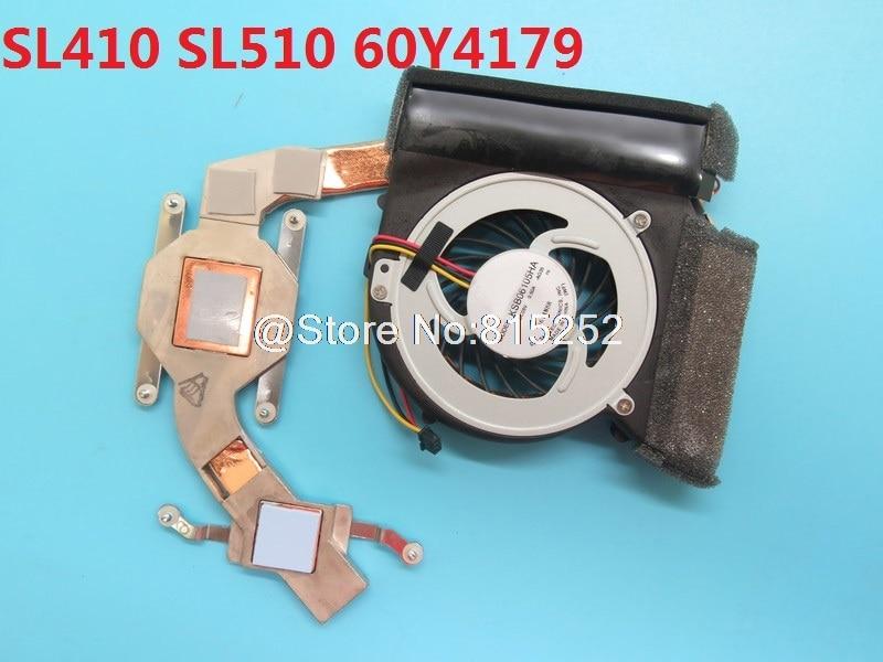 Ventilador y disipador de calor para ordenador portátil para Lenovo para ThinkPad SL410 SL510 60Y4179 0Y4180 KSB06105HA-AG35 SLGCLTALV30 nuevo