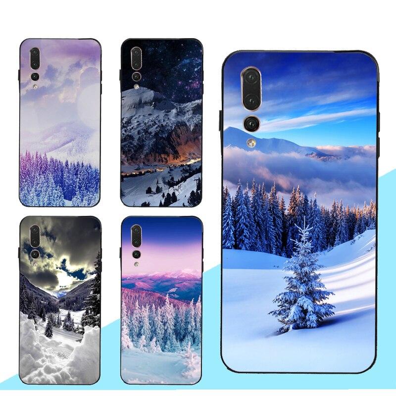 Snowy Winter Mountain Case for Huawei Honor 10 20 Lite 7C 7A Pro 10i 8X 9X 9 8A 8C 8S Nova 5T Y6 Y9 Y7 2019