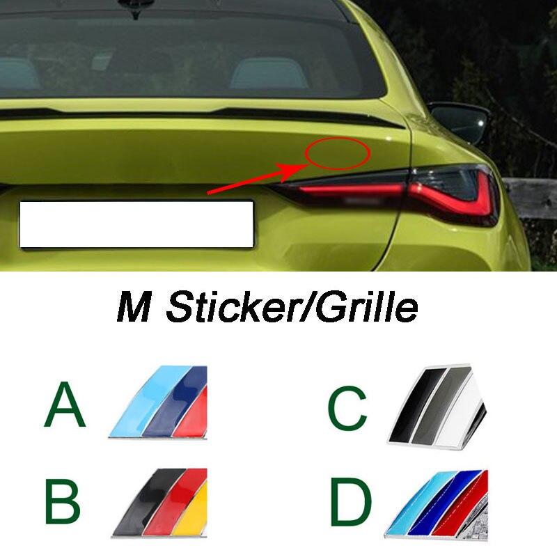 Металлическая Автомобильная задняя наклейка значок решетки для BMW M Power Логотип E90 E46 E87 E36 F20 E92 X5 E90 E60 F10 F30 E39 E70 E30 эмблема x см