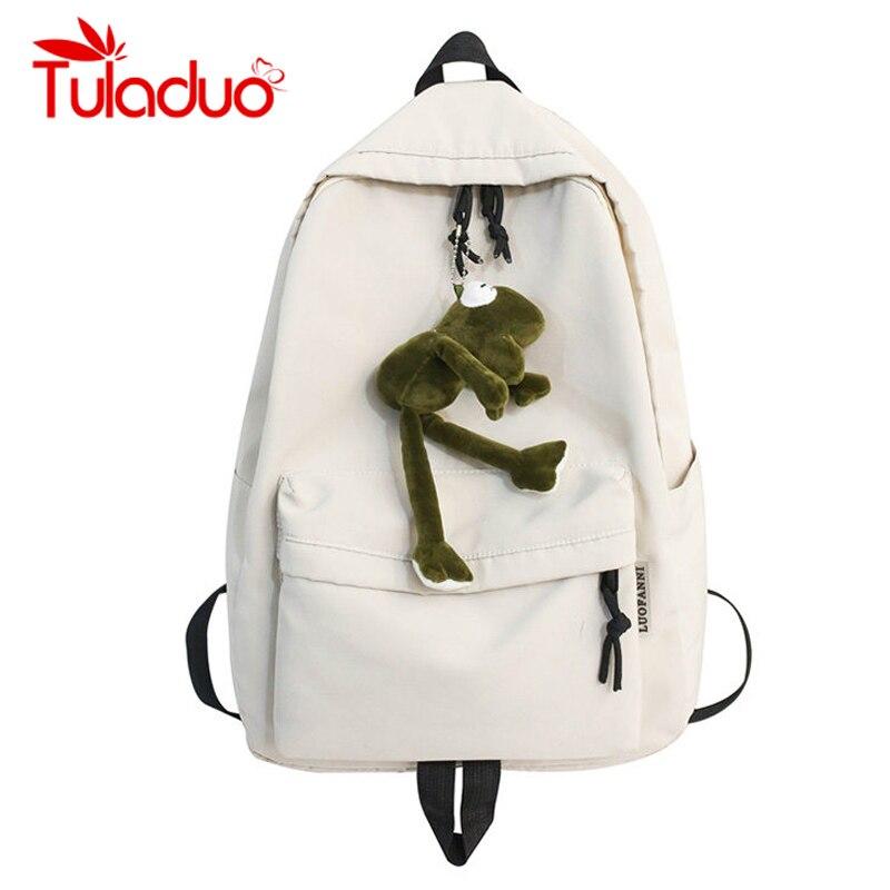 Mochila sólida, mochila escolar para chicas adolescentes, mochila Oxford impermeable para hombres y mujeres, mochila negra para estudiantes