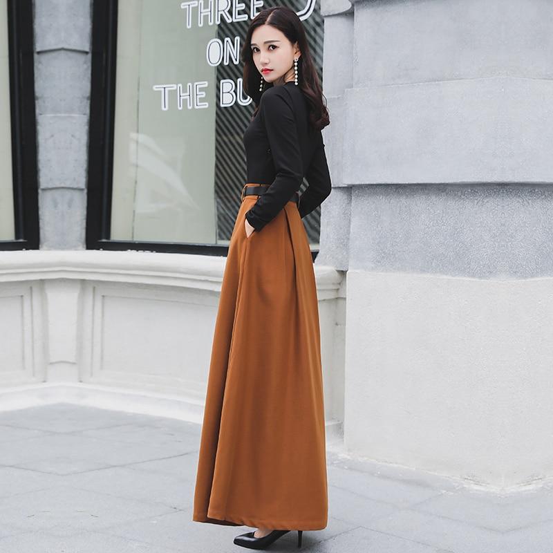 2020 Vintage Women Autumn Winter Ladies Party Dresses Belt Elegant Long Sleeve Dress Female robe femme 170818