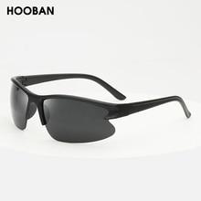 HOOBAN Classic Sports Sunglasses Men Women Fashion Half-Frame Sun glasses For Male Female Vintage Ou