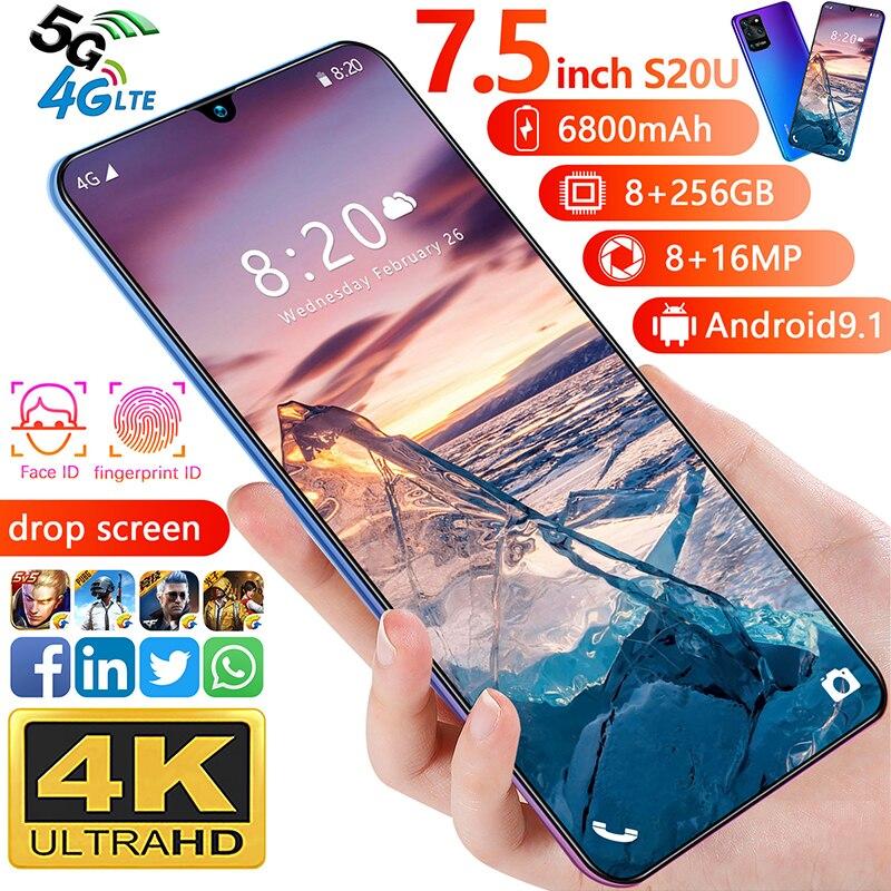 7.5 polegadas galay s20 rede global entregar snapdragon 855 smartphone 12gb ram 512gb rom octa núcleo 4 câmera versão global telefone