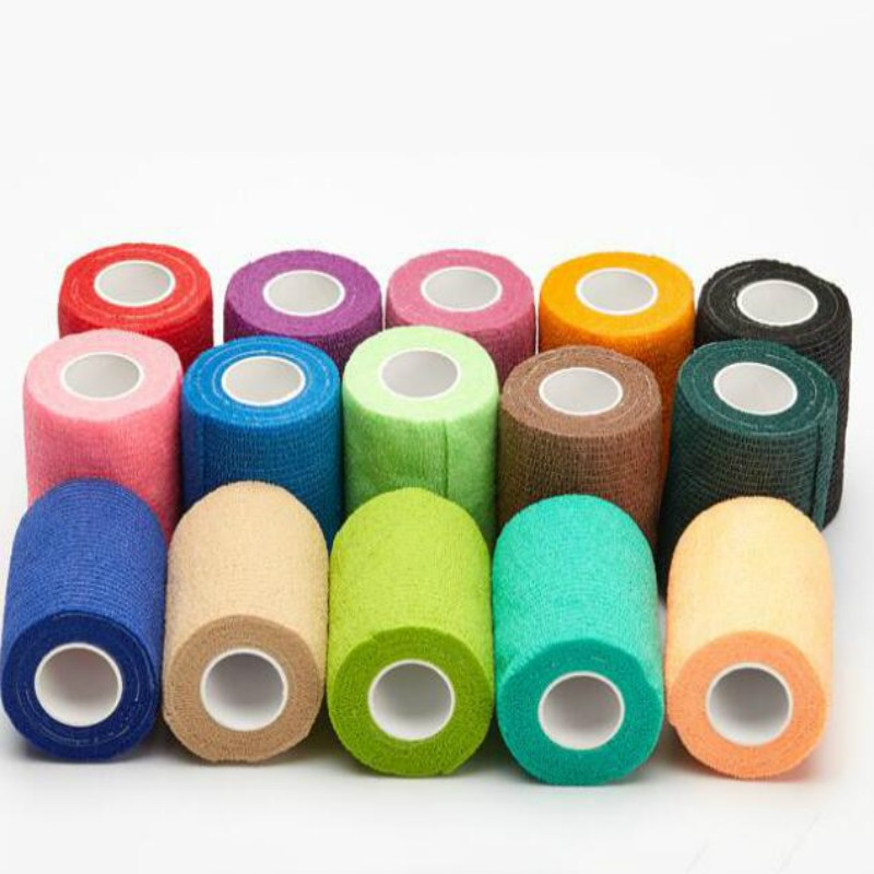 New Sale Self-adhesive Cshesive Bandage First Aid Kit Sports Body Gauze Vet Tape Security Protection Emergency 2.5/5/7.5/10/15cm