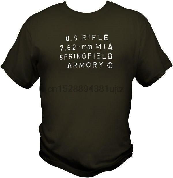 Gran oferta 2019 camiseta con sello de talón receptor M14 7,62 NATO 308 camiseta con caja de municiones M1A
