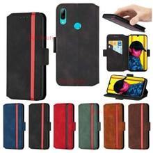 Étui en cuir pour Huawei Psmart 2019 étuis P Smart 2018 Etui portefeuille téléphone couverture arrière pour Huawei P Smart 2019 étui de téléphone à rabat