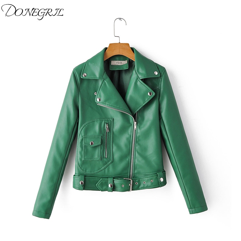 2020 New brand Winter Autumn Motorcycle leather jackets White leather jacket women leather coat slim Zip PU jacket Leather classical men leather jacket lapel full motorcycle slim cool pu jackets black white coat autumn winter clothing moto