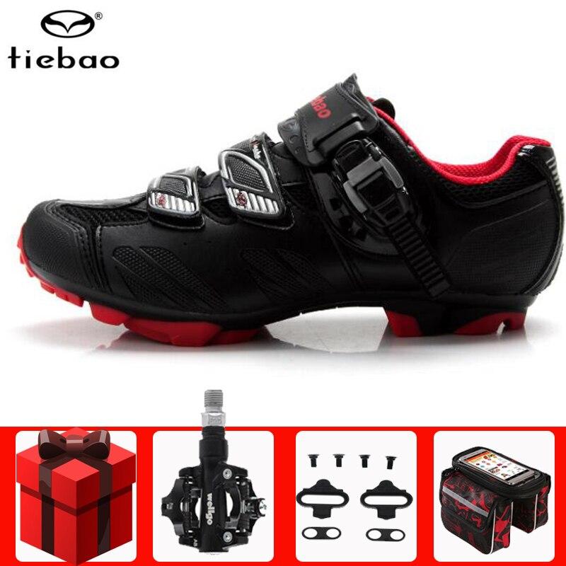 Tiebao Cycling Shoes pedales sapatilha ciclismo mtb men women Self-locking Bike Sneakers mountain bike Ride MTB Bicycle Shoes