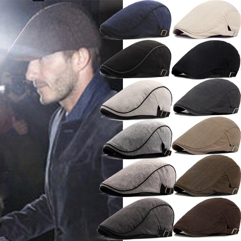 Men Berets Street Newsboy Hat Spring Autumn Winter Retro British Beret Hats Men Peaked Painter Caps