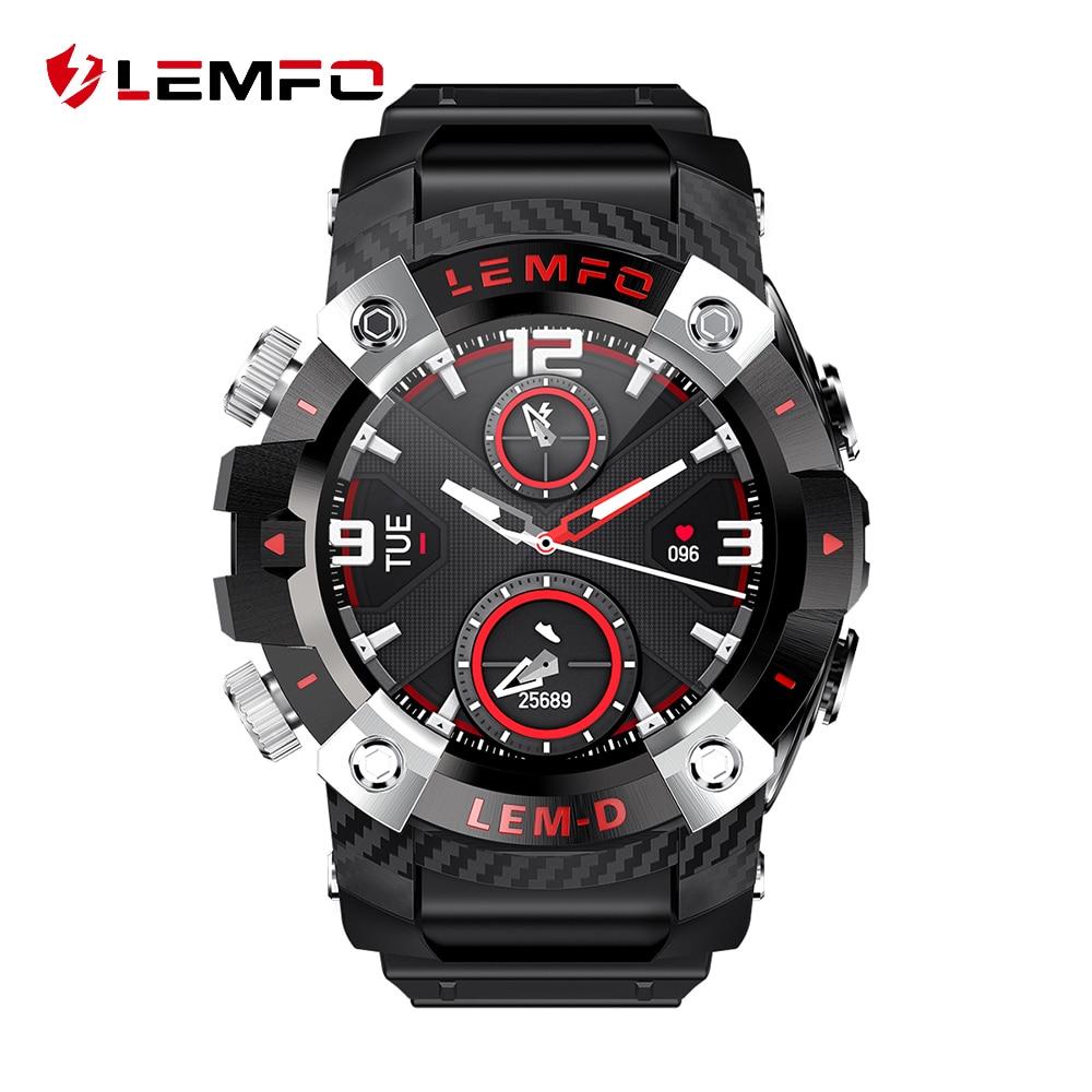 LEMFO LEMD Смарт-часы, беспроводные Bluetooth 5,0 наушники 2 в 1 360*360 HD экран, спортивные Смарт-часы для мужчин для Android IOS Apple Phone