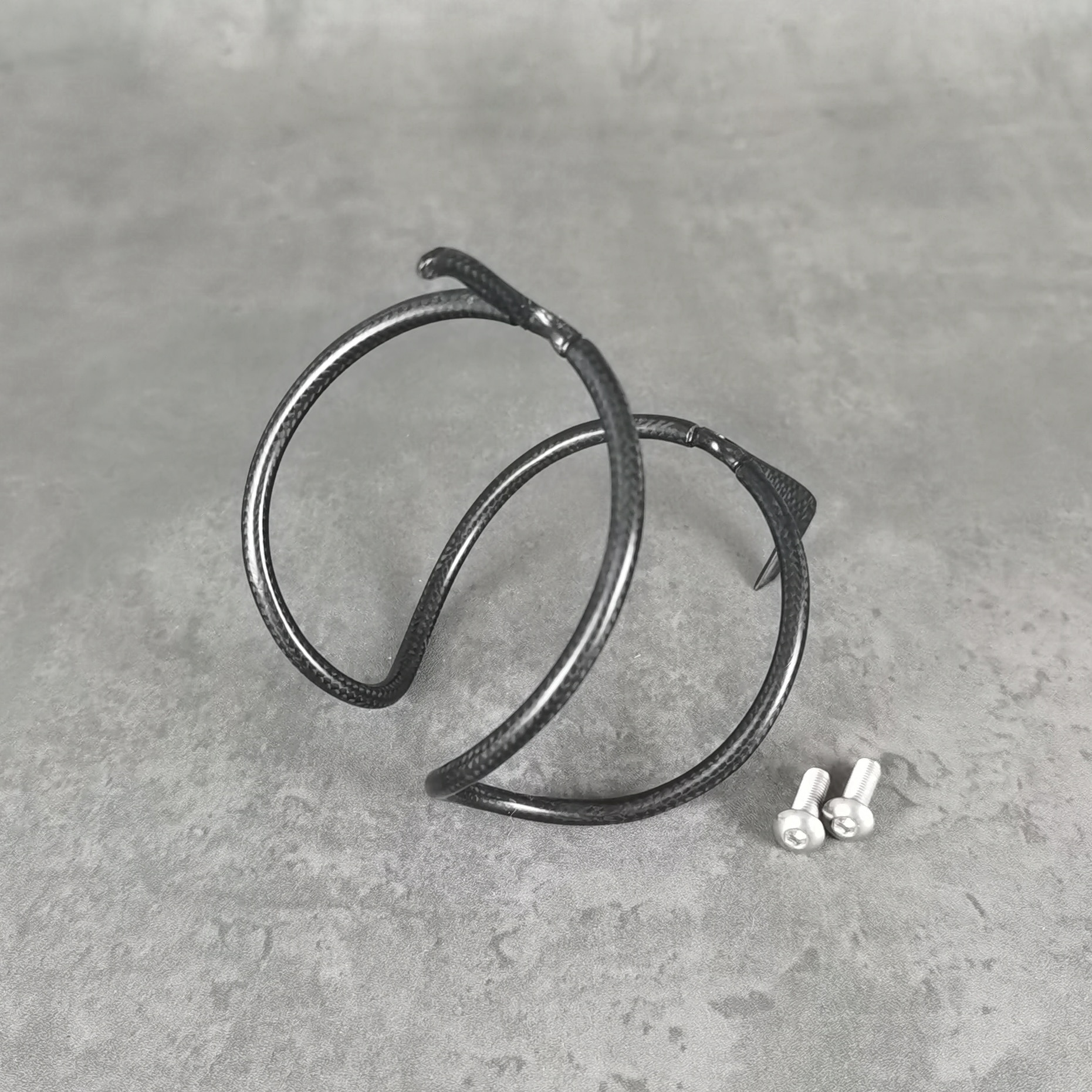 Envío gratis de portabotellas de fibra de carbono MTB/soporte de botella de agua de bicicleta de carretera tornillos de acero inoxidable súper ligeros