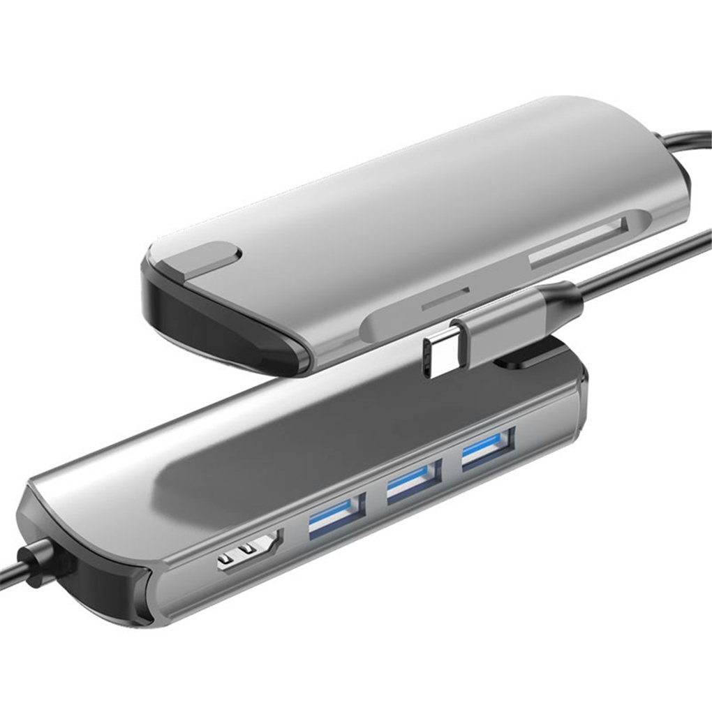 USB نوع-C محور محول USB-C PD شحن 4K HD USB 3.0 3.5 مللي متر سماعة جاك لباد برو 2018 سامسونج S8 S9 S10 اللوحي Hub