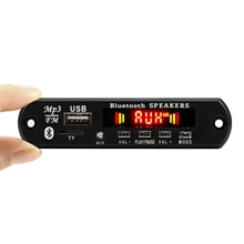 5V-12V Kleur Bt Tf Usb Fm Aux Radio MP3 Speler Geïntegreerde Auto Usb Bluetooth Hands-gratis MP3 Decoder Board Module Audio Inbouwen