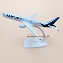 16 см сплав металла Air KUWAIT Airways B777 модель самолета KUWAIR Boeing 777 Airlines модель самолета Стенд самолет детские подарки
