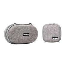 2Pcs Baona Eva Oxford Hard Zipper Mini Earbuds Earphone Case Bluebuds Case In-Ear Bluetooth Earphone Bag Charger Head Organizer