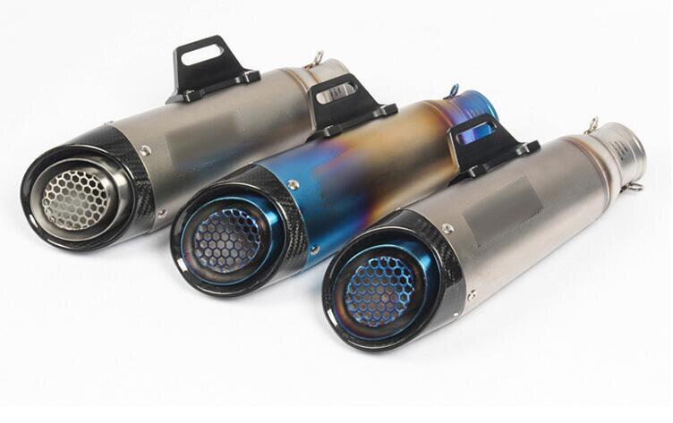 Silenciador de tubo de escape de motocicleta de 51mm 60mm para KTM ATV Z750 Z800 Z1000 NINJA250 CBR CRF230 gproyecto