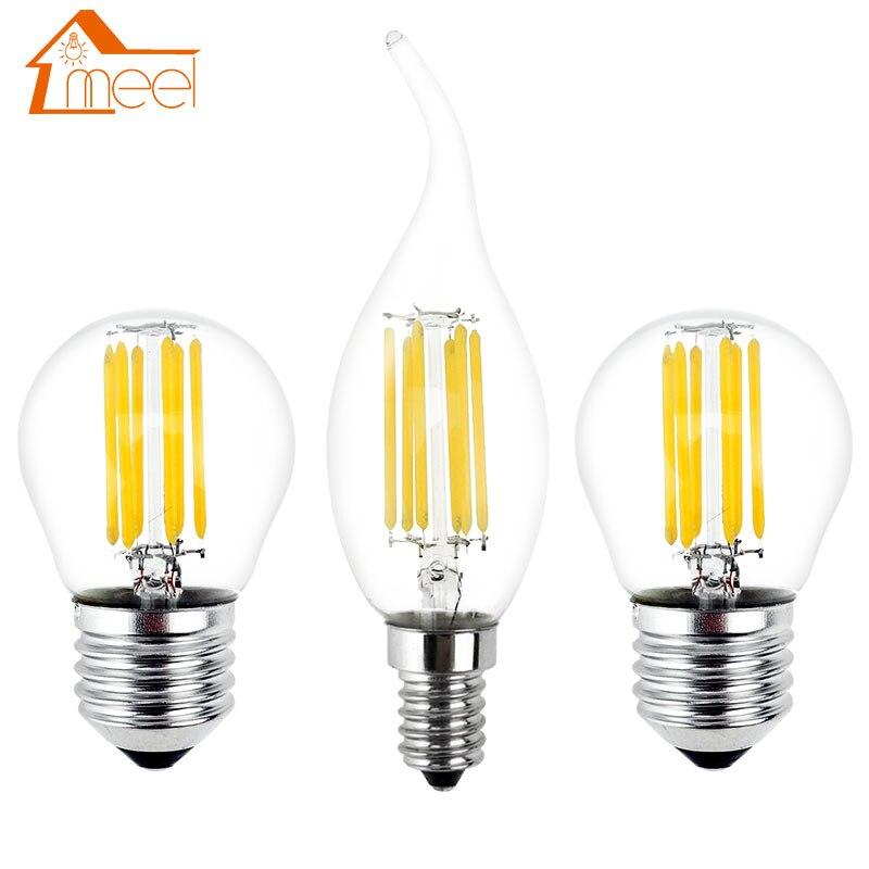 Bombilla LED Retro E27 E14, lámpara de 220V, 240V, luz con filamento...