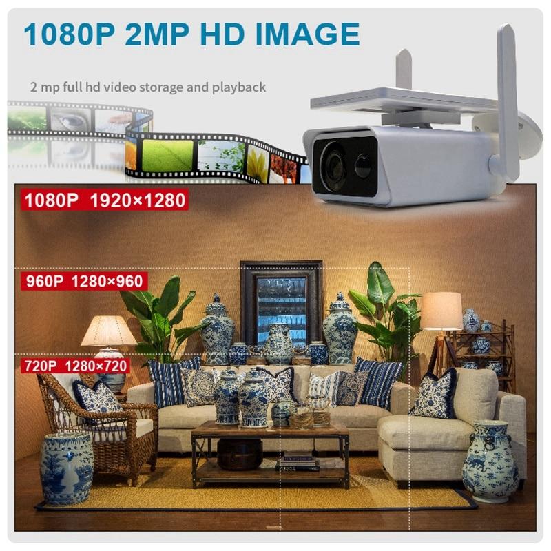 Solar Energy IP Camera Wifi Camera 1080P Hd CCTV Outdoor IR Wireless Surveillance Cameras Waterproof Home Security enlarge