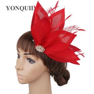 Imitation Sinamay Fashion Headwear Fancy Fascinator Hat Hair Clip With Fancy Feather Hair Accessory Cocktail Charming Headdress