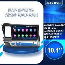 Hd 9/10 Inch Android 8.1 Auto Radio Head Unit Voor Honda Civic 8 Fk Fn Fd 2006-2011 Auto dsp Stereo Multimedia Speler 2 + 32Gb/4 + 64Gb