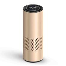 Air Purifier With Hepa Filter Fresh Air  Car Air Purifier Infrared Sensor Air Cleaner Best For Car Home Office Gold