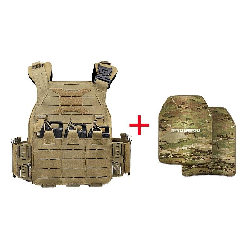 New UTA Universal Armor Lightweight Vest Wear-Resistant Waterproof Tactical Vest +2Pcs Leve 5 Universal Armor Tactical Protector