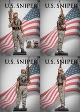 1/16 escala 90 MM moderno militar EE. UU. Francotirador miniaturas escena modelado sin pintar DIY montaje estático figura resina modelo Kits
