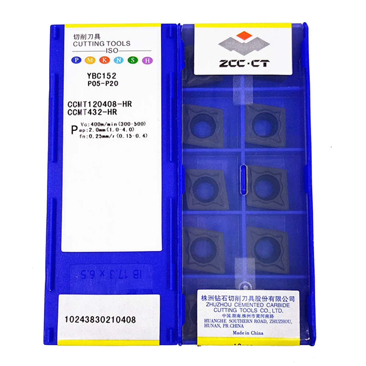 ZCC.CT CCMT120408-HR YBC152/CCMT120412-HR YBC152 كربيد إدراج 10 قطعة
