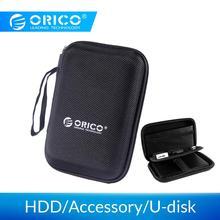 ORICO 2,5 дюйма Жесткий диск сумка Proctect мини размер ноутбука USB чехол внешний жесткий футляр для дисков сумка для WD Seagate/Samsung SSD коробка